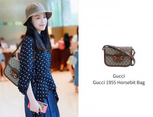 高仿Gucci 1955 Horsebit bag,倪妮同款马鞍包